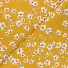Cotton Fabric - safran Amandier x 10cm