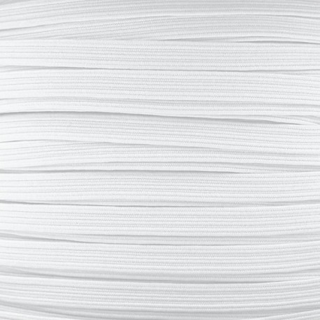 7mm Facemask elastic - White