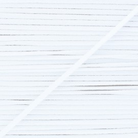 Elastique masque ultra doux 5 mm - Blanc (bobine)