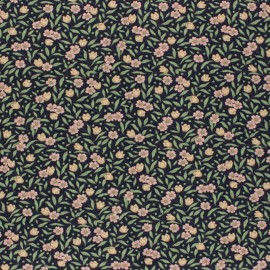 Cotton Fabric - navy blue Joanne x 10cm