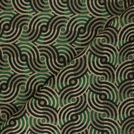 Jacquard fabric - green Awardx 10cm