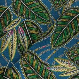 Jacquard fabric - blue Eldor x 10cm