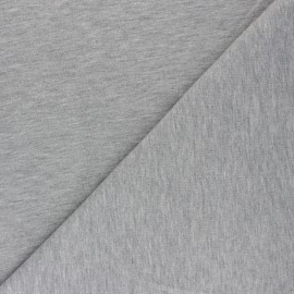 Brushed french terry fabric - mottled grey x 10cm