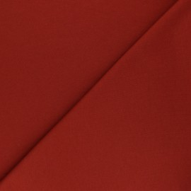 Brushed french terry fabric - terracotta Maxence x 10cm