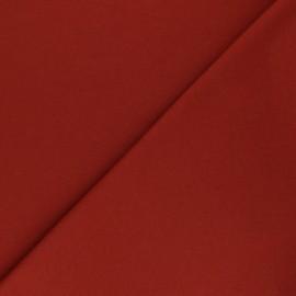 Tissu sweat léger gratté Maxence - Terracotta x 10cm
