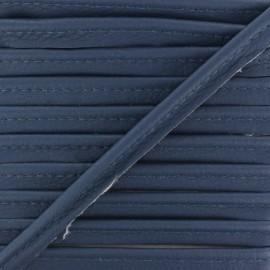 Passepoil Simili Cuir Leka - Bleu Marine x 1m