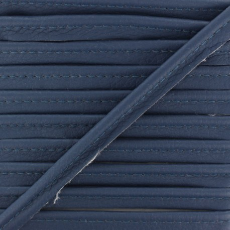 Faux Leather Piping - Navy Blue Leka x 1m