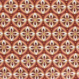 Tissu coton cretonne enduit Livy - Marron x 10cm