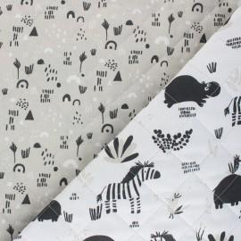 Tissu matelassé Réversible Hipzoo/Prio - blanc x 10cm