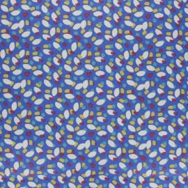 Coated cretonne cotton fabric - blue Konogo x 10cm