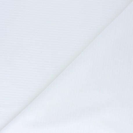 Tissu jersey velours côtelé - écru x 10cm