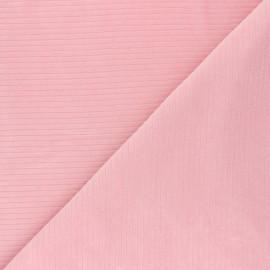 Tissu jersey velours côtelé - rose thé x 10cm