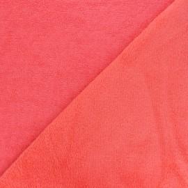 Tissu Micro-éponge Bambou - corail x 10cm