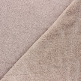 Micro Bamboo Towel fabric - light taupe x 10cm