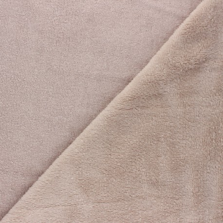 Tissu Micro-éponge Bambou - taupe clair x 10cm