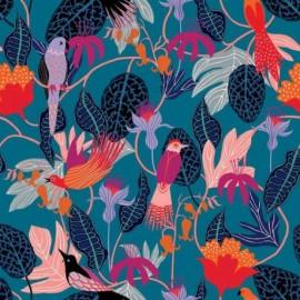Tissu Rayonne Dashwood studio Gardenia D - bleu x 10cm