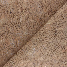 Simili cuir aspect Liège Geometrica - naturel x 10cm