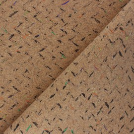 Cork fabric - natural Chevrons x 10cm