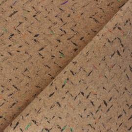 Tissu liège véritable Chevrons - naturel x 10cm