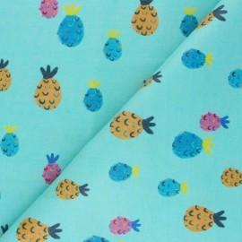 Simili cuir Piña - bleu x 10cm