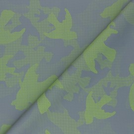 Reflective polyester fabric - green Camouflage x 10cm