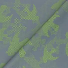 Tissu toile parachute réfléchissante Camouflage - vert x 10cm