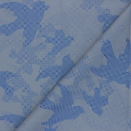 Reflective polyester fabric - blue Camouflage x 10cm