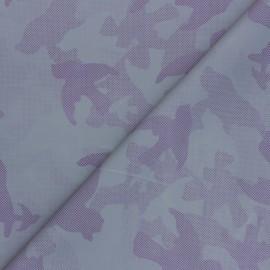 Tissu toile parachute réfléchissante Camouflage - violet x 10cm