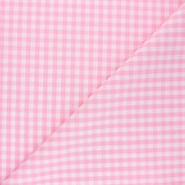 Checked gingham fabric - pink Suzanne x 10cm