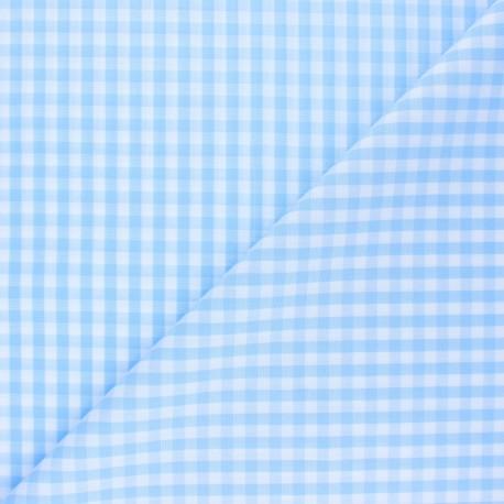 Tissu Vichy Suzanne - bleu ciel x 10cm