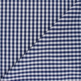 Checked gingham fabric - navy blue Suzanne x 10cm