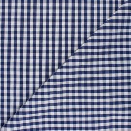 Tissu Vichy Suzanne - bleu marine x 10cm