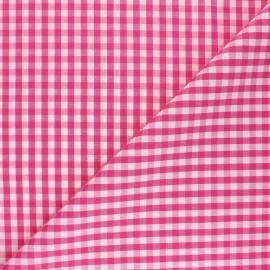 Checked gingham fabric - fuchsia Suzanne x 10cm