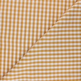 Checked gingham fabric - mustard yellow Suzanne x 10cm
