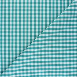 Checked gingham fabric - emerald Suzanne x 10cm