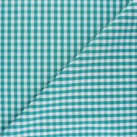 Tissu Vichy Suzanne - emeraude x 10cm