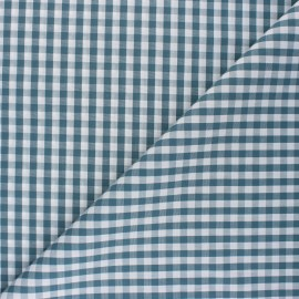 Checked gingham fabric - grey green Suzanne x 10cm