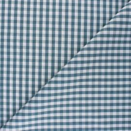Tissu popeline Vichy Suzanne - vert de gris x 10cm