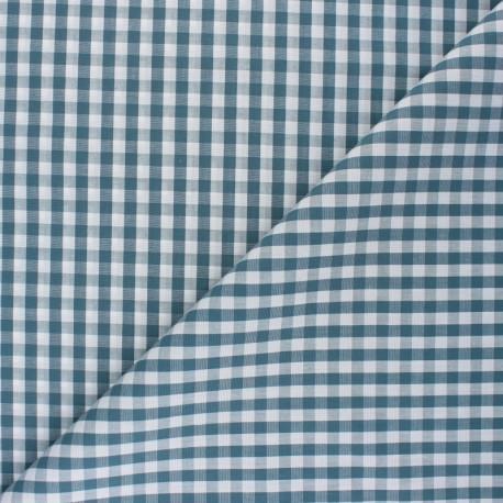 Tissu Vichy Suzanne - vert de gris x 10cm