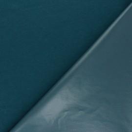 Tissu PUL jersey coton uni - bleu pétrole x 10cm