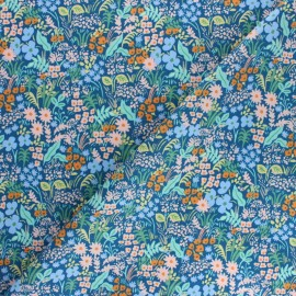 Tissu coton Rifle Paper co. Meadow - bleu x 10cm