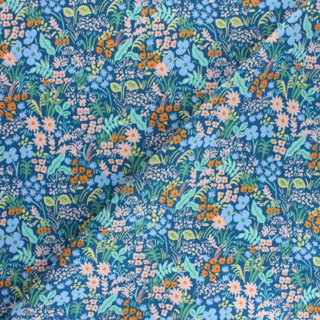 Tissu coton Rifle Paper co. Meadow - bleu x 10cm