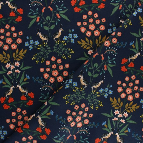 Rifle Paper Co. Cotton fabric - Navy Luxembourg x 10cm