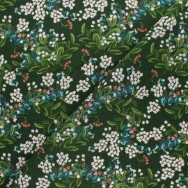 Rifle Paper Co. Rayon fabric - Green Cornflower x 10cm
