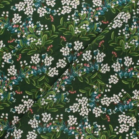 Tissu rayonne Rifle Paper co. Cornflower - vert x 10cm