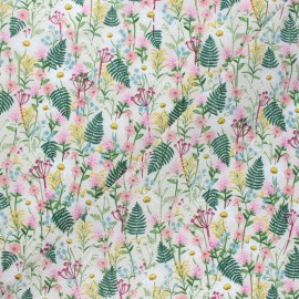 Tissu coton Rifle Paper co. Wildflowers - blanc x 10cm