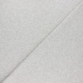 Jersey tubulaire bord-côte - Beige chiné x 10cm
