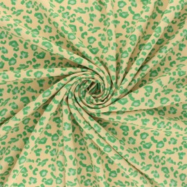 Mat Polyester fabric - yellow Bright leo x 10cm