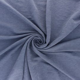 Special Polo fabric - mottled navy blue Galopin x 10cm