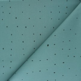 Cotton fabric Rico Design - green Striya x 10cm
